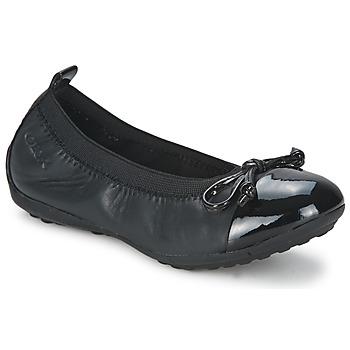 Shoes Girl Ballerinas Geox PIUMA BALLERINE Black