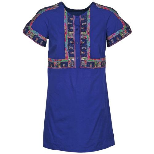 material Women Short Dresses Antik Batik EMILIE Marine