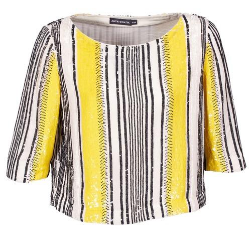 material Women Blouses Antik Batik ZABOU Yellow / White / Black