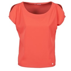 material Women short-sleeved t-shirts Les P'tites Bombes S145003 Red