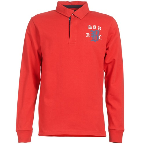 material Men long-sleeved polo shirts Serge Blanco MATO Red
