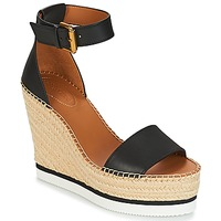 Shoes Women Espadrilles See by Chloé SB26152 Black / White