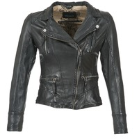material Women Leather jackets / Imitation leather Oakwood CAMERA Black