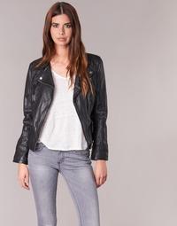 material Women Leather jackets / Imitation leather Oakwood 60861 Black