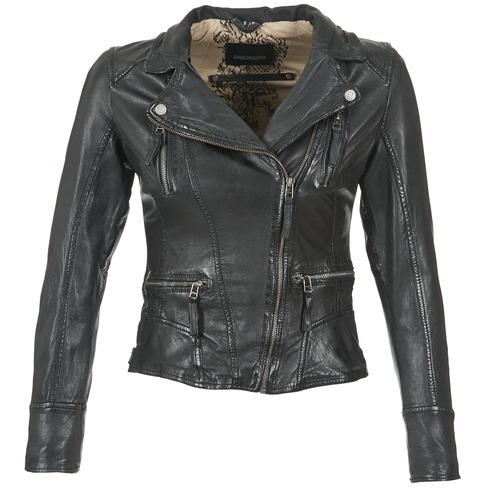 material Women Leather jackets / Imitation leather Oakwood CAMERA Black