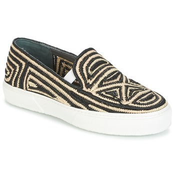 Shoes Women Slip ons Robert Clergerie TRIBAL Black / BEIGE
