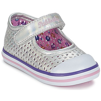 Shoes Girl Ballerinas Pablosky JILENA Silver / Pink
