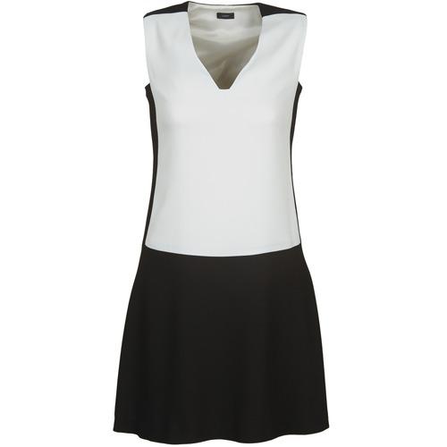 material Women Short Dresses Joseph DORIA Black / White