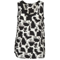 material Women Tops / Sleeveless T-shirts Joseph DEBUTANTE Black / White / Grey