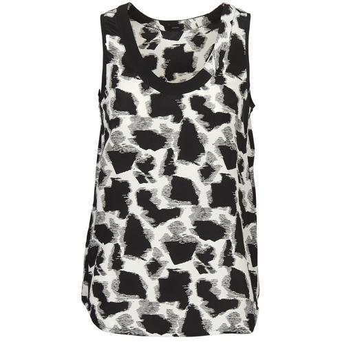 material Women Tops / Sleeveless T-shirts Joseph DEBUTANTE Black / White / Grey