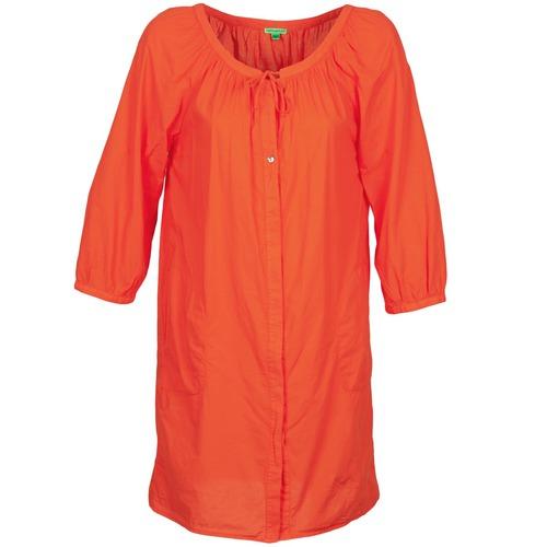 material Women Short Dresses Bensimon FOURTY Orange