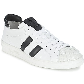 Shoes Women Low top trainers Bikkembergs BOUNCE 594 LEATHER White / Black