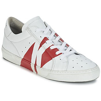 Shoes Men Low top trainers Bikkembergs RUBB-ER 668 LEATHER White / Red