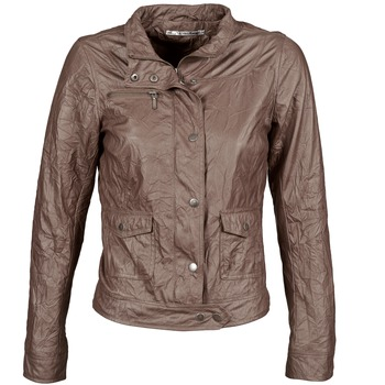 material Women Leather jackets / Imitation leather DDP GIRUP Brown