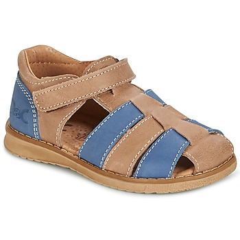 Shoes Boy Sandals Citrouille et Compagnie FRINOUI Brown / Blue