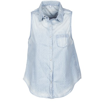 material Women short-sleeved shirts Pepe jeans POCHI Blue