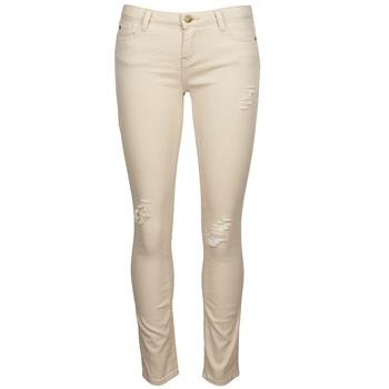 material Women slim jeans Acquaverde SCARLETT Beige
