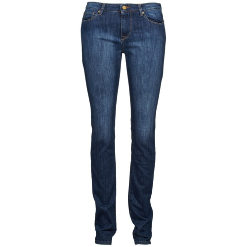 material Women straight jeans Acquaverde NEW GRETTA Blue