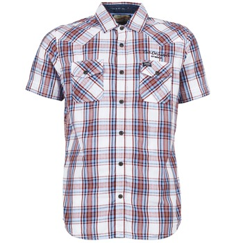 material Men short-sleeved shirts Petrol Industries SHIRT SS White / Red