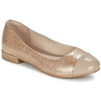 Shoes Women Ballerinas Clarks FESTIVAL GOLD Champagne