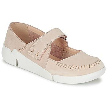 Shoes Women Ballerinas Clarks TRI AMANDA Pink