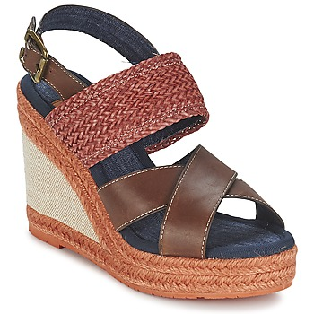 Shoes Women Sandals Napapijri BELLE Brown / Dark / Red