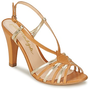 Shoes Women Sandals Petite Mendigote TOURTERELLE Cognac / Gold