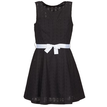 material Women Short Dresses La City ROBEGUI Black