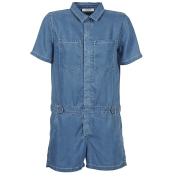material Women Jumpsuits / Dungarees Teddy Smith CALINCA DENIM LYOCELL Blue