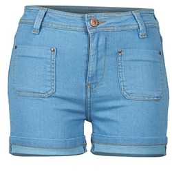 material Women Shorts / Bermudas School Rag SUN Blue / MEDIUM