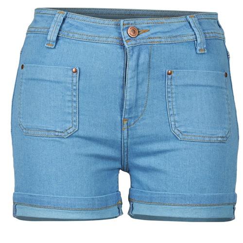 material Women Shorts / Bermudas School Rag SUN Blue / Medium