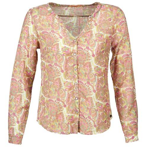 material Women Shirts DDP GARDENIA Pink / Green
