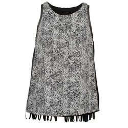 material Women Tops / Sleeveless T-shirts Color Block PINECREST Grey / Black / White