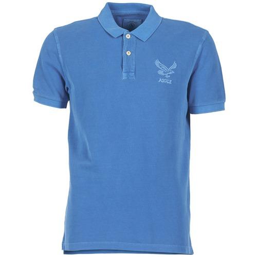 material Men short-sleeved polo shirts Aigle BELAQUA Blue