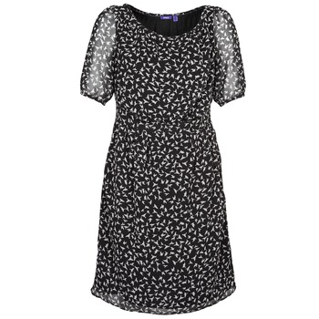 material Women Short Dresses Mexx 13LW130 Black / White