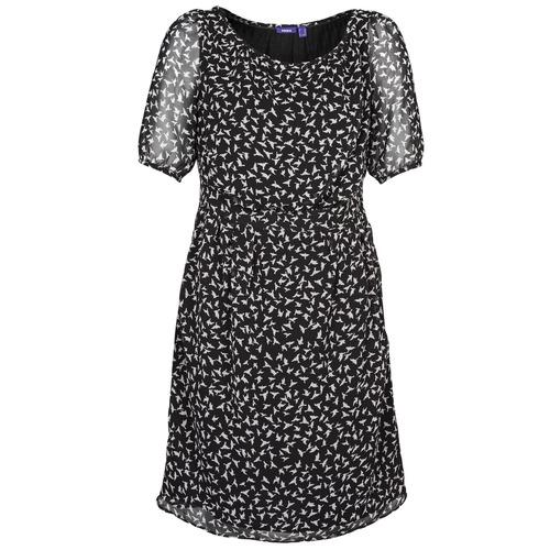 material Women Short Dresses Mexx 13LW130 Black / White