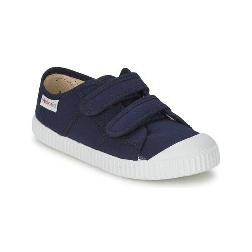 Shoes Children Low top trainers Victoria BLUCHER LONA DOS VELCROS Marine