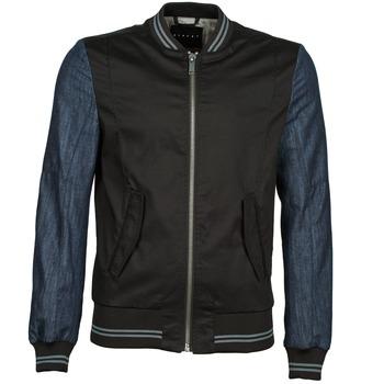Jackets Sisley 2ID2533A9 Black / Blue 350x350