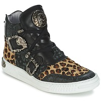 Shoes Women High top trainers New Rock ANTERLO Leopard