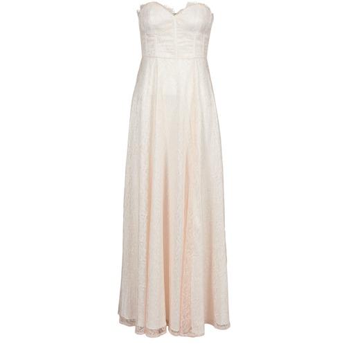 material Women Long Dresses Manoukian 613346 Pink / Beige