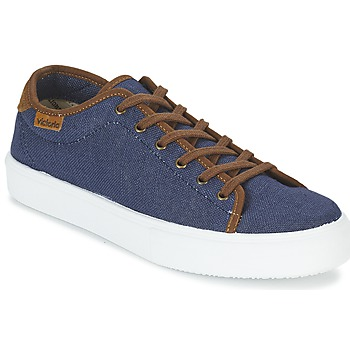 Shoes Men Low top trainers Victoria BASKET LINO DETALLE MARRON MARINE / Brown