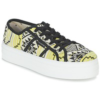 Shoes Women Low top trainers Victoria BASKET ETNICO PLATAFORMA Black / Yellow