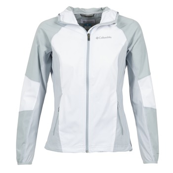 material Women Blouses Columbia SWEET AS SOFTSHELL White / Grey