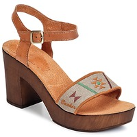 Shoes Women Sandals Bunker LUCY Brown / TAUPE