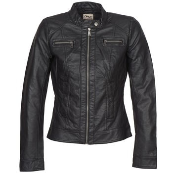 material Women Leather jackets / Imitation leather Only BANDIT Black