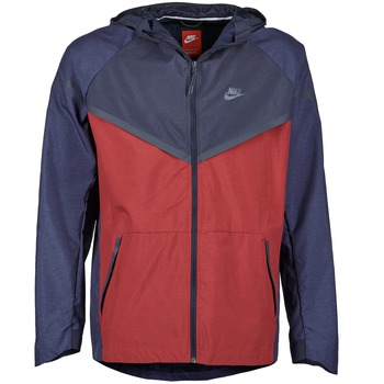 material Men Macs Nike TECH WINDRUNNER Red / MARINE / Grey
