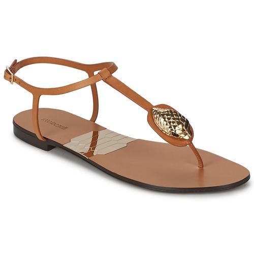 Shoes Women Flip flops Roberto Cavalli XPX243-PZ220 Brown