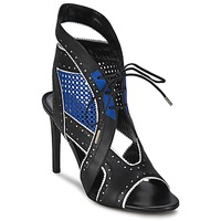 Shoes Women Sandals Roberto Cavalli XPS254-PZ448 Black / Blue