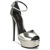 Shoes Women Sandals Roberto Cavalli XPS260-PZ048 Grey / Silver