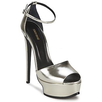Sandals Roberto Cavalli XPS260-PZ048 Grey / Silver 350x350